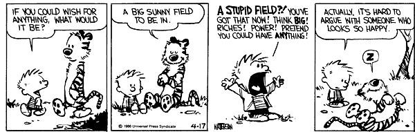 Image result for calvin and hobbes happy